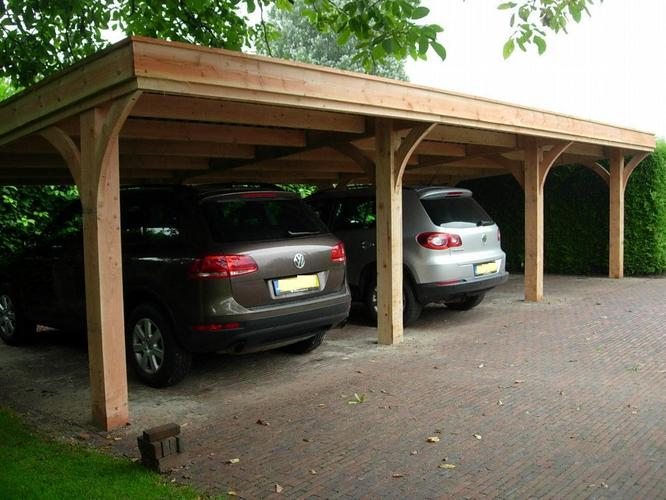 carport van fijnbezaagd douglas 2