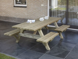 Talen Picknicktafel open instap 160 x 230 cm, 45 mm dik